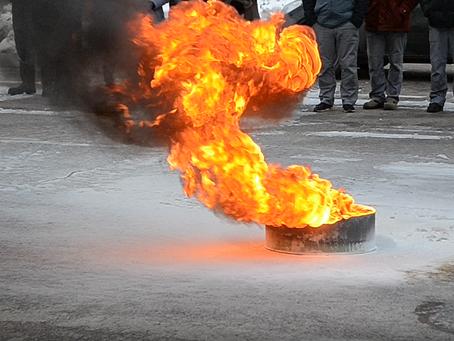 Практическое занятие по тушению пожара