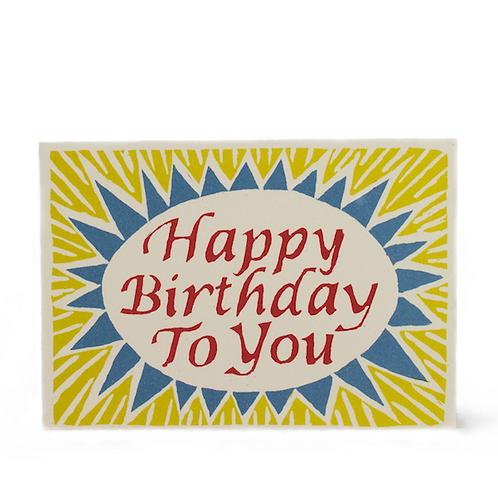 Happy Birthday - Yellow & Blue