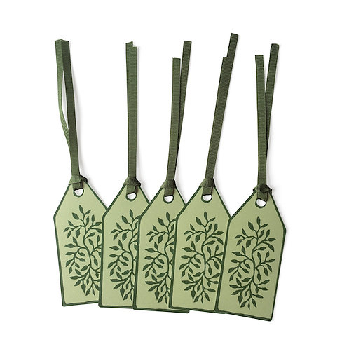 Green Gift Tags - 5 Pack