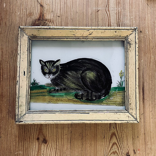 Cat Glass Painting