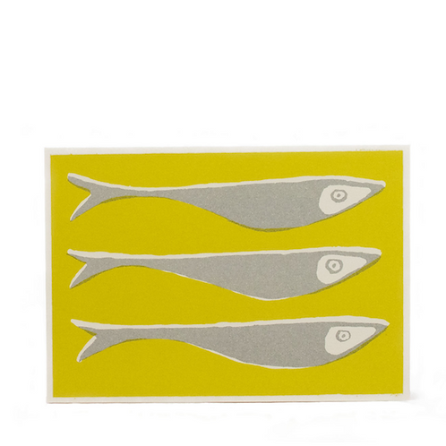 Fish - Grey & Yellow