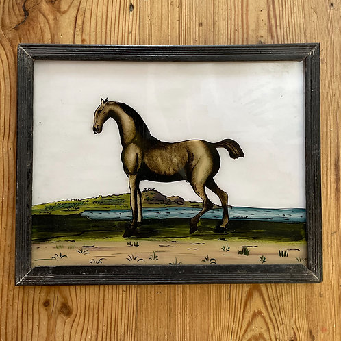 Horse Glass Painting