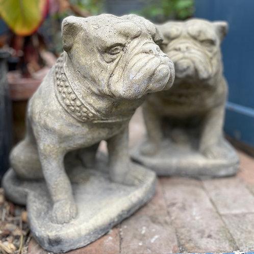 Pair Stone Bulldogs