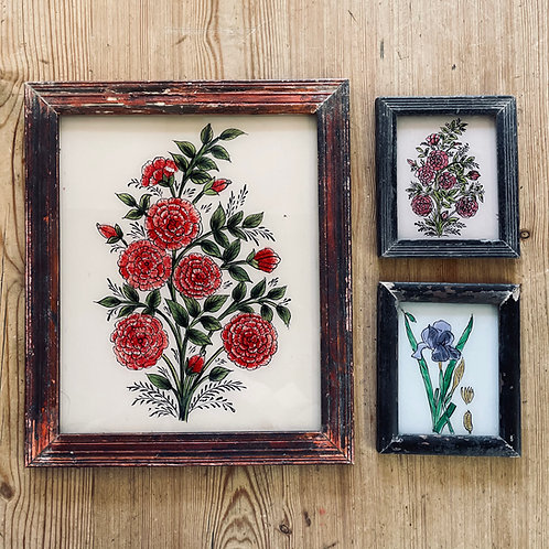 Florals I Glass Paintings