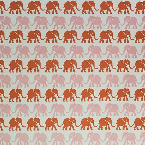 Elephants - Pink & Orange