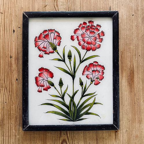 Chrysanthemums Glass Painting