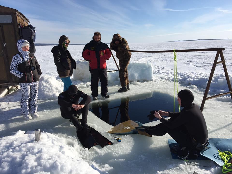 Обучение фридайвингу на Белом море