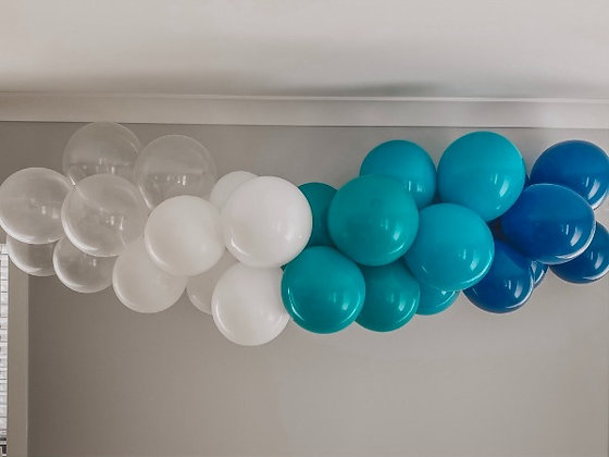 DIY Balloon Garland Kit - Clear, White & Blue