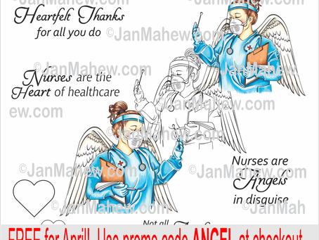 Angel of Mercy Stamp Set- FREE