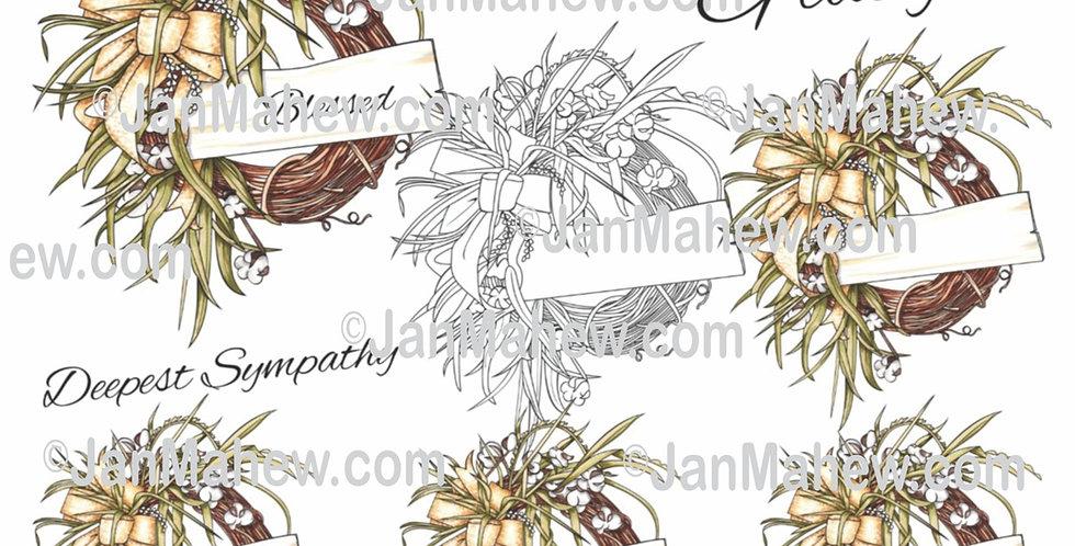 Fall Cotton Wreath