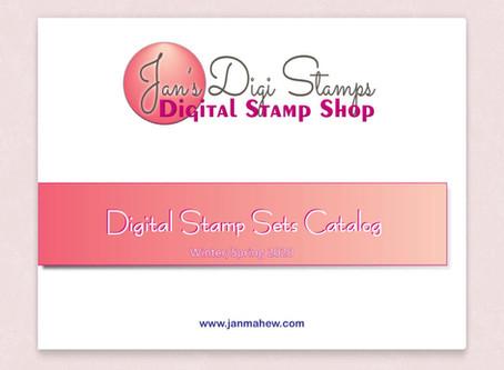 NEW!  Jan's Digis Shop Flip Catalog!