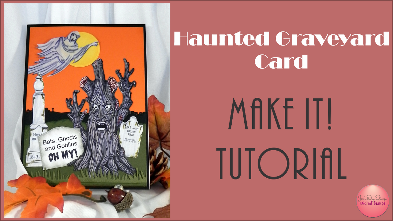 Haunted Graveyard Card Tutorial