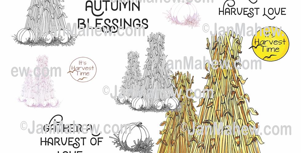 Autumn Corn Sheaves