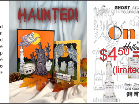 Haunted!  My New Digital Stamp Bundle!