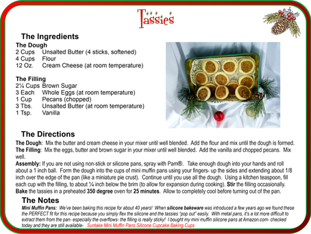 Tassies Recipe