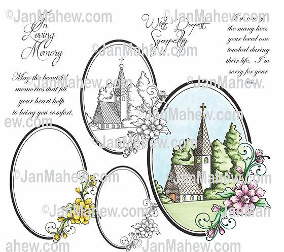 Church Sympathy Digital Stamp
