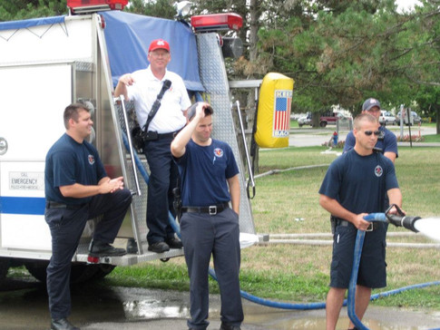Firemen Hanging Around