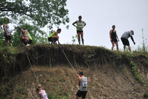 Mud Rappeling