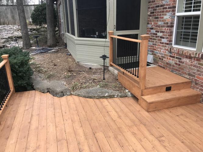Back Deck Construction