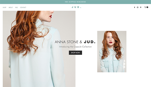 Online Store website templates – Capsule Collection