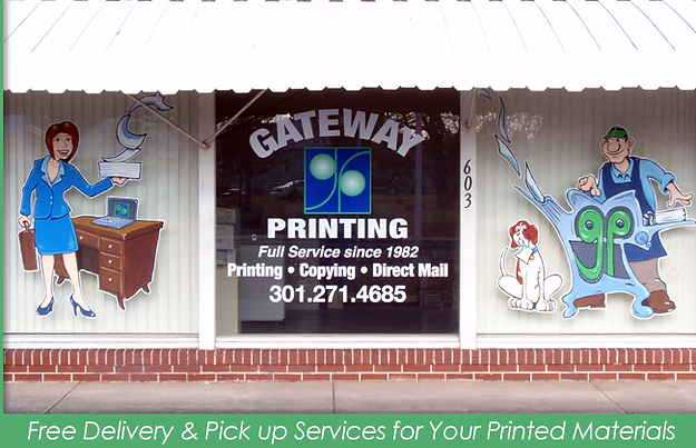 Gateway Printing Front Window