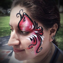 Face painting is fun for any age. I always give the moms glamor ayes when I'm done with the kids