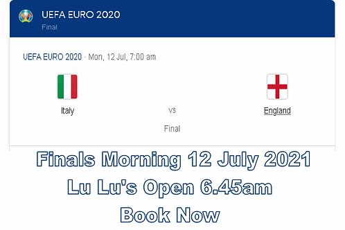 Euro 2021 Final 12 July