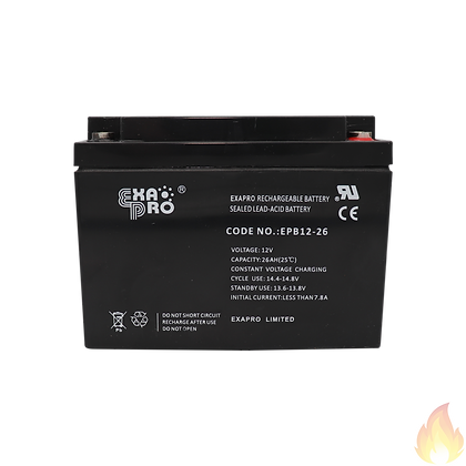 ExaPro / VRLA Sealed Lead Acid Battery 12V 26AH / EPB12-26