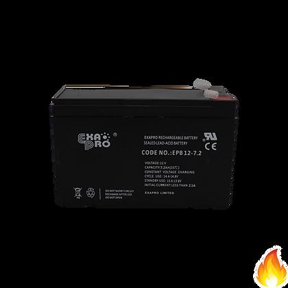 ExaPro / VRLA Sealed Lead Acid Battery 12V 7.2AH / EPB12-7.2