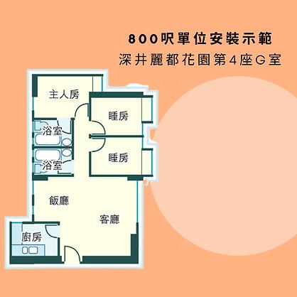 深井麗都花園第4座G室 (800呎)