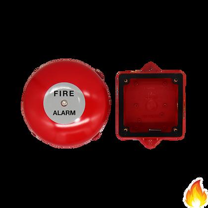 Vimpex / Alarm Bell 150mm (6 inch) 24V w/ Weatherproof Box / MBF-6+BBX-4