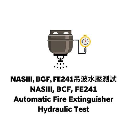 NASIII, BCF, FE241吊波水壓測試