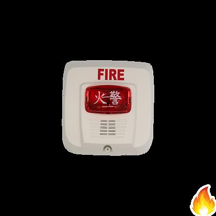 System Sensor / Selectable Horn & Strobe RedLens White 24Vdc / SYS-HSRW