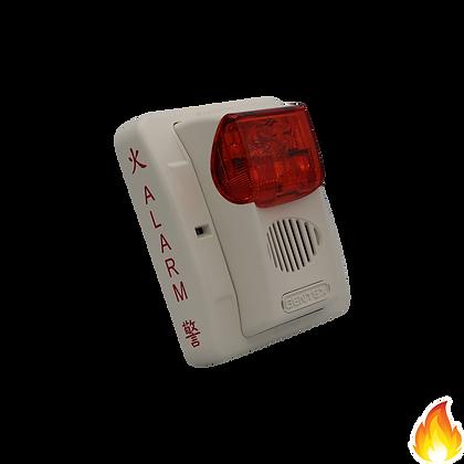 Gentex / Select. Horn/Strobe, 24Vdc, Wall, Red Lens, White / GECR-24WW