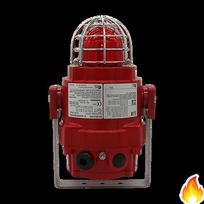 E2S / Flameproof Xenon Beacon, IP66, 24Vdc, Red Lens / BEXBG05E24DC-RD
