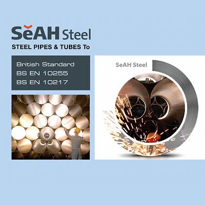 "SeAH / 2.1/2"" (65mm) (3m) Class B (Medium) Plain Ends/BS EN10255"