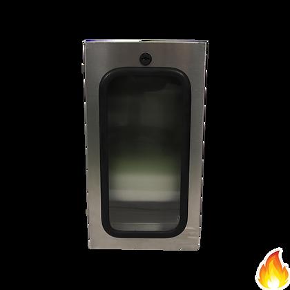 不銹鋼防水箱(有外耳,有底,有鎖,膠片) / 510x280x150mm