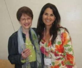 Dr. Riane Eisler and Sande- Vision of Peace Awardee