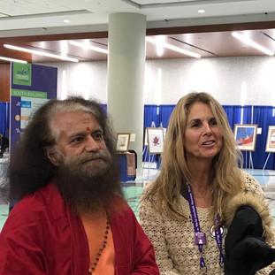 With Swami Pujya Chidananda