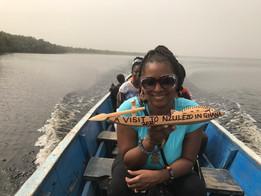 Boat ride to Nzulezo