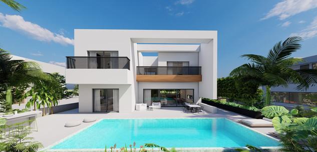 מבט אחורי הדמיה אדריכלות