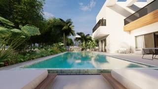 מבט אל הבריכת שחיה פרטית, אדריכלות