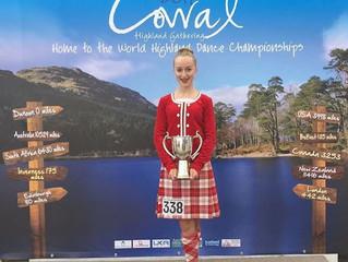 Highland Dancer 4th Runner up at World Championship