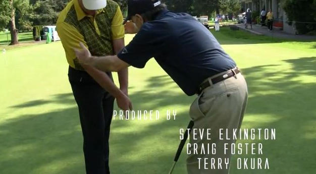 Steve Elkington and Craig Foster at Portland Golf Club  Portland Oregon