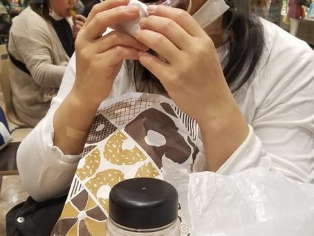 ダイエット中なのに目の前でミスドのドーナツを・・・