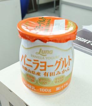バニラヨーグルトの有田みかん味
