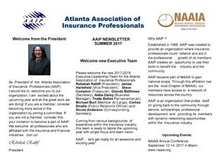 AAIP Newsletter | July 2017