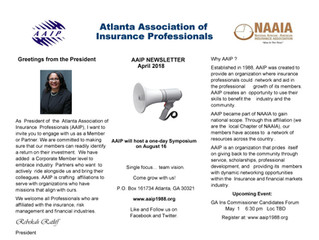 AAIP Newsletter | April 2018
