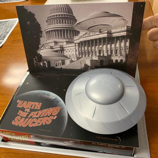 "Jim Pernikoff 1/200 (est.) Atlantis Attack Saucer from the movie ""Earth vs The Flying Saucers"""