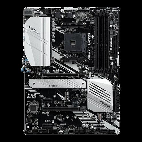 ASRock AMD Ryzen X570 Pro4 AM4 PCIe 4.0 ATX Motherboard